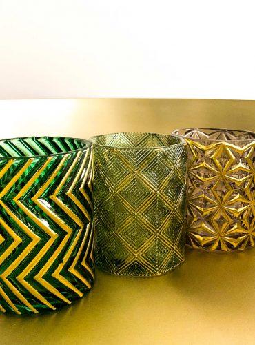 Orientalischer Teelichthalter-Set Art Deco