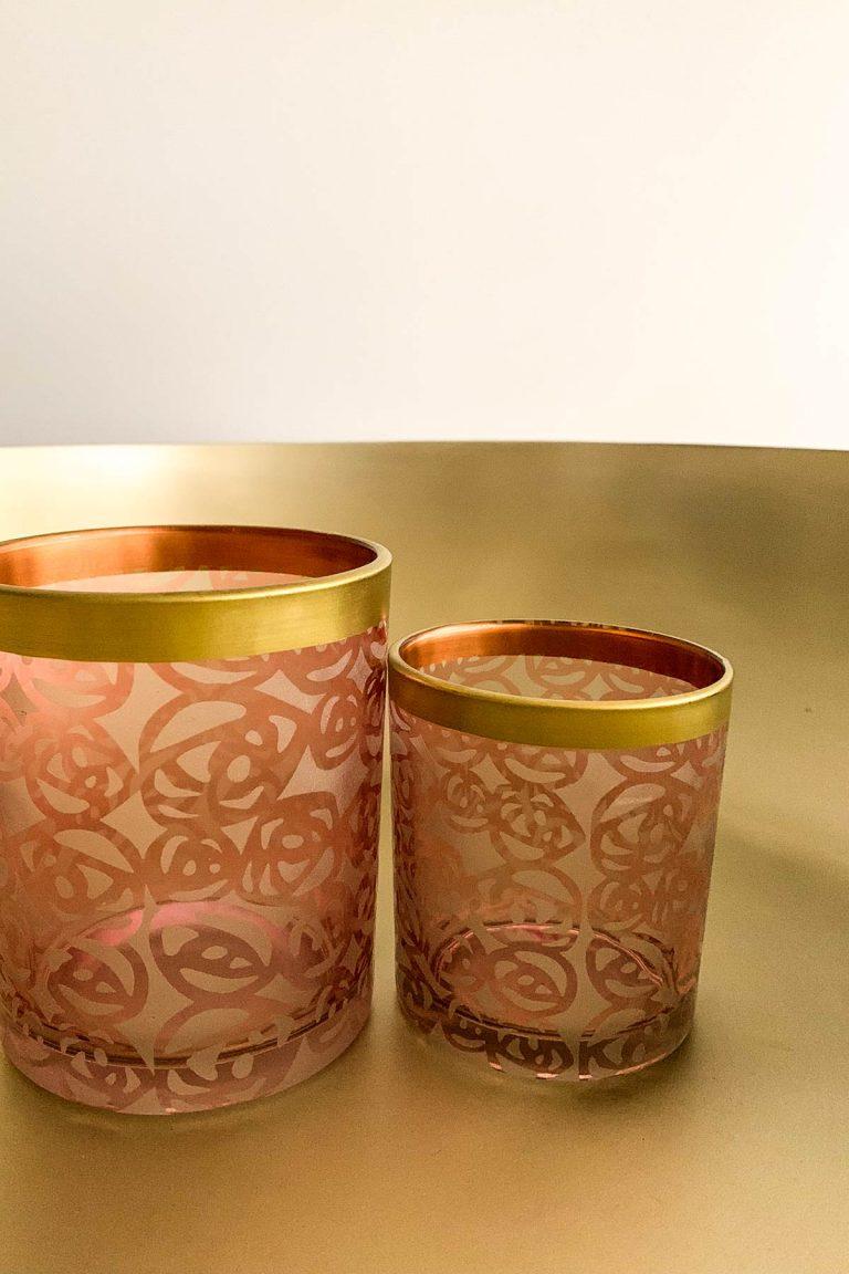 Orientalischer Teelichthalter Set Rose
