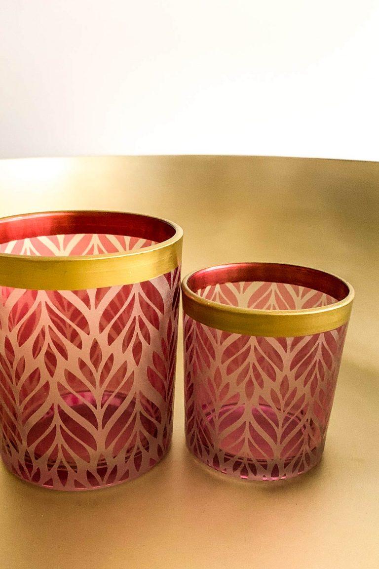 Orientalischer Teelichthalter-Set Lotus