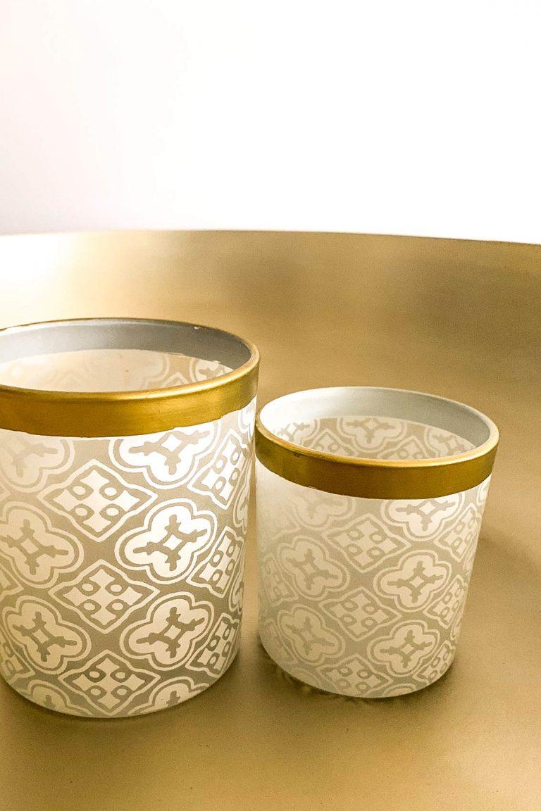 Orientalischer Teelichthalter-Set Snowflakes