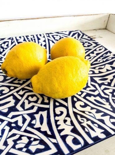 Original marokkanische Keramik-Platte Fatma aus Ton - handbemalt