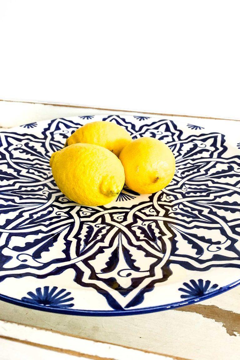 Original marokkanische Keramik-Platte Amina