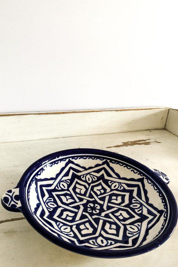 Original marokkanische Keramik-Schale Samira aus Ton - handbemalt