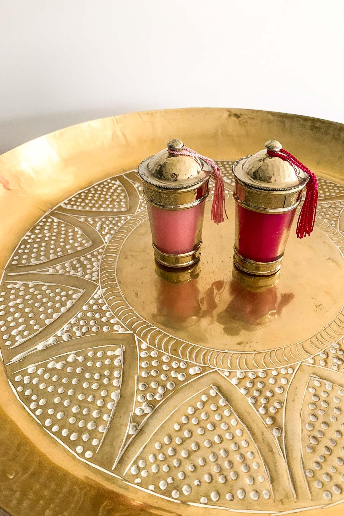 Orientalisches Deko-Tablett Alisa in gold