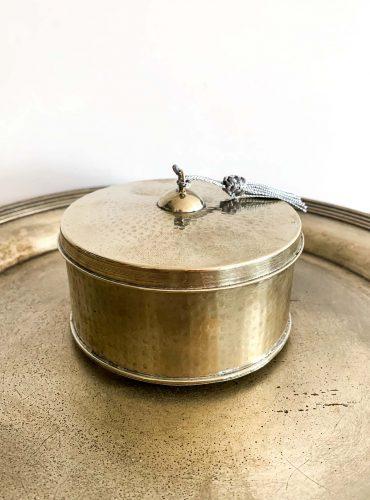 Orientalische runde Dose Dina mit Deckel