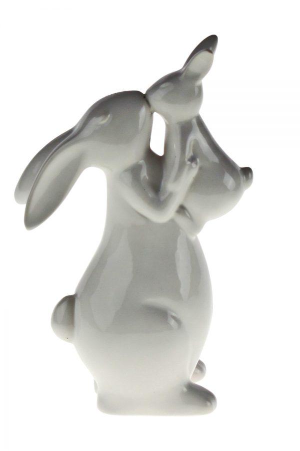 Keramik-Hase mit Baby
