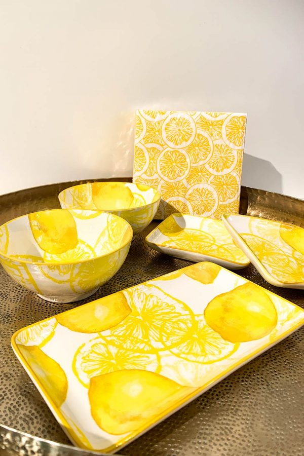 Kermikgeschir Lemon mit Zitronen