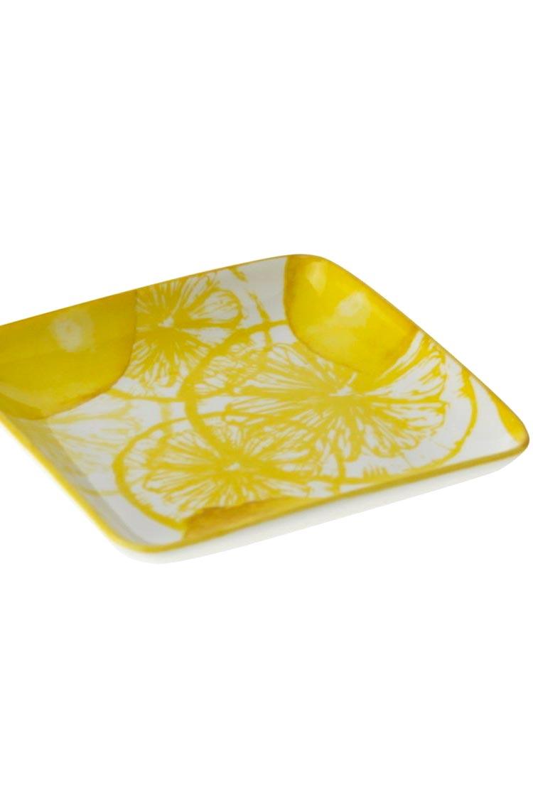 Snackteller Lemon - quadratisch