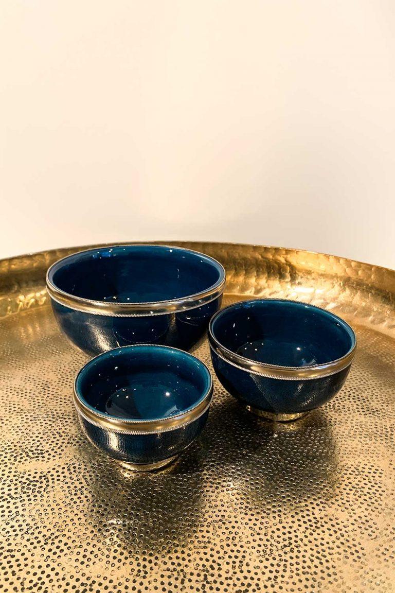 Orientalisches Schalen-Set Azra in petrol