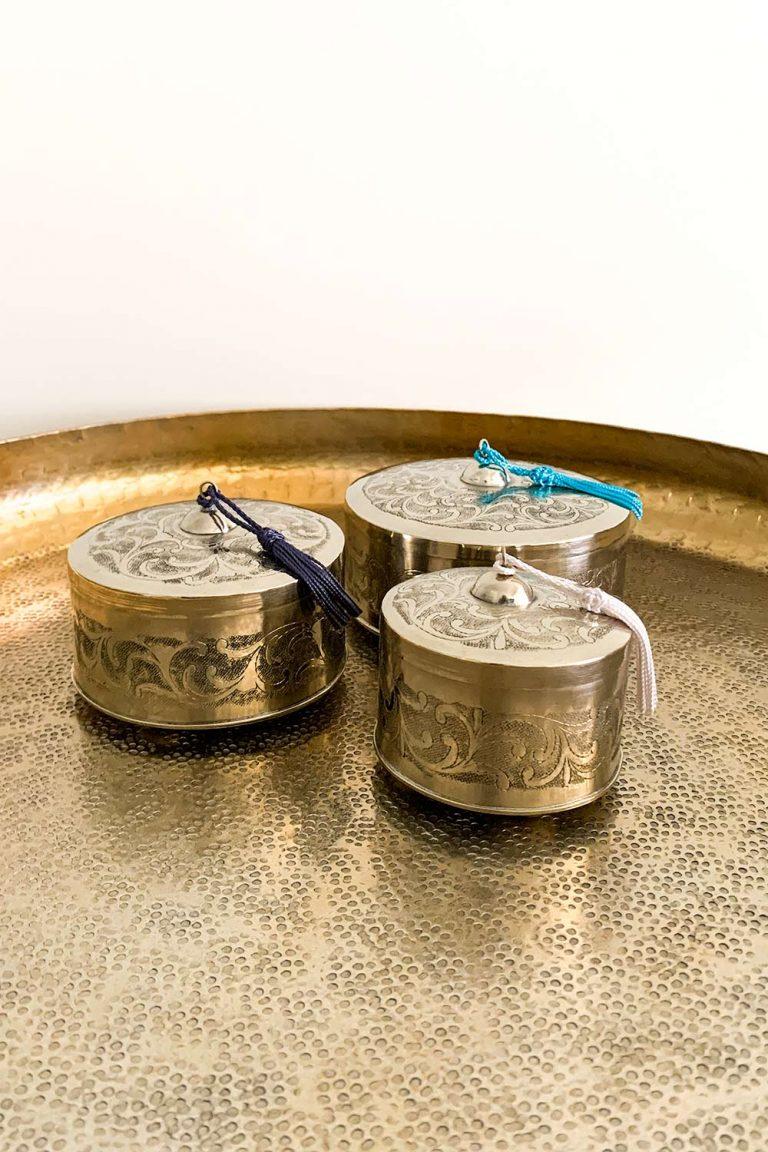 Orientalische Dose Najia aus Kupfer