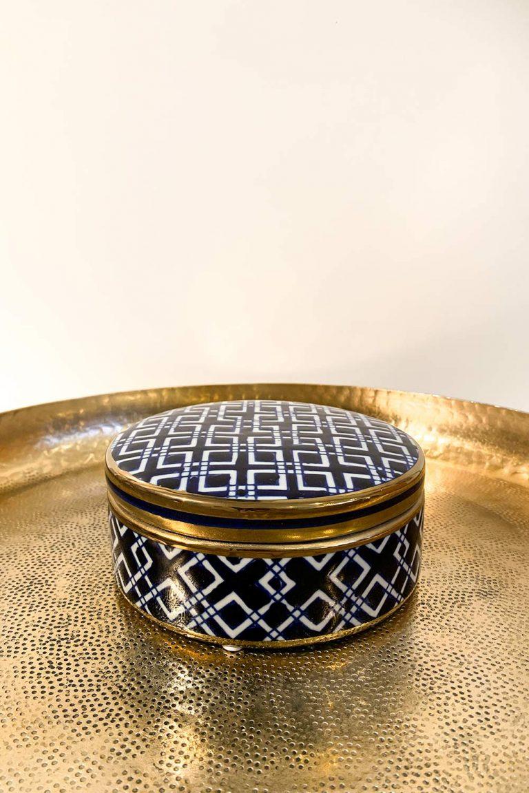 Orientalische Dose Orienta aus Porzellan