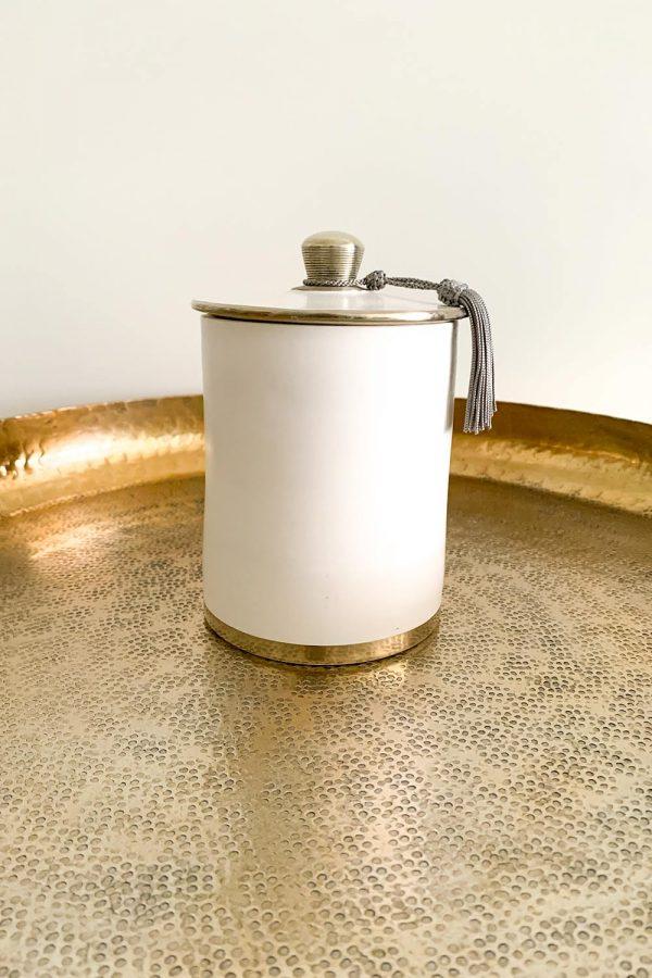 Orientalische Dose Saida aus Keramik und Kupfer