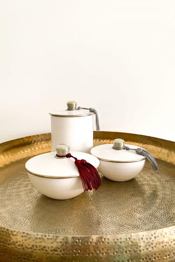 Orientalische Dosen Samira und Saida aus Keramik und Kupfer
