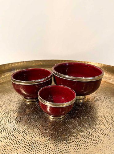 Orientalische Schale Azra in drei Größen, Farbe dunkelrot