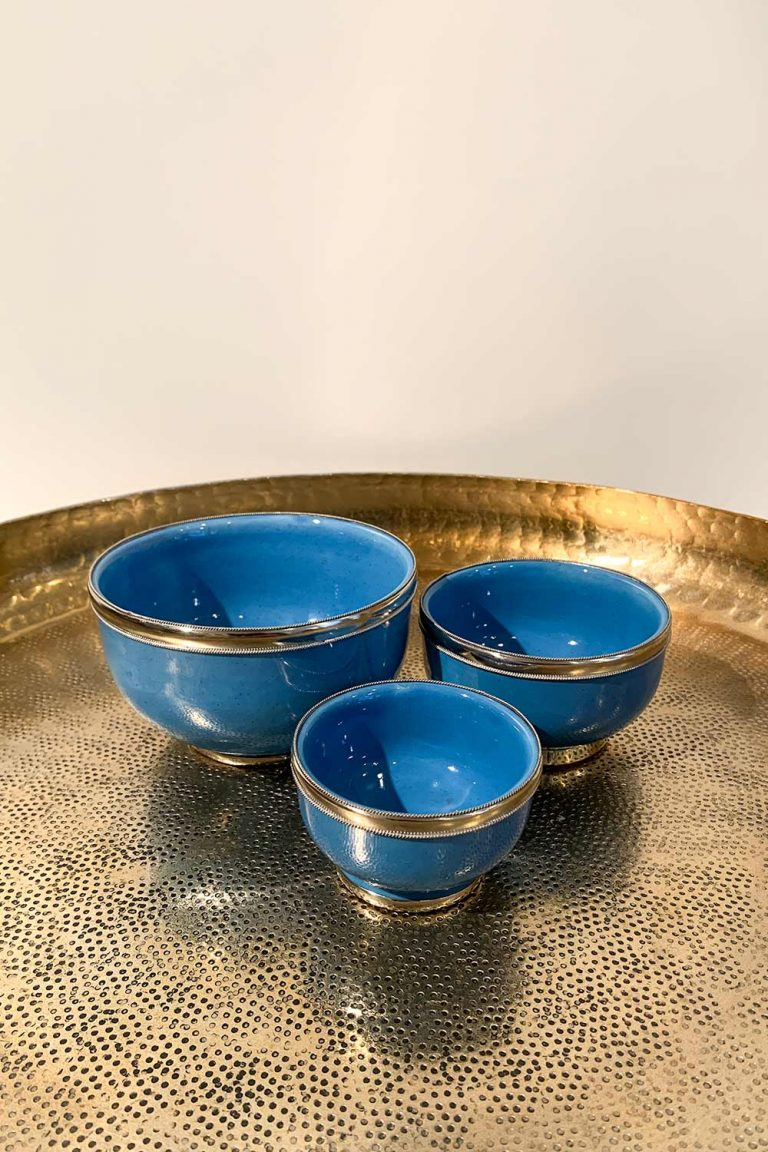 Orientalische Schale Azra in 3 Größen in hellblau