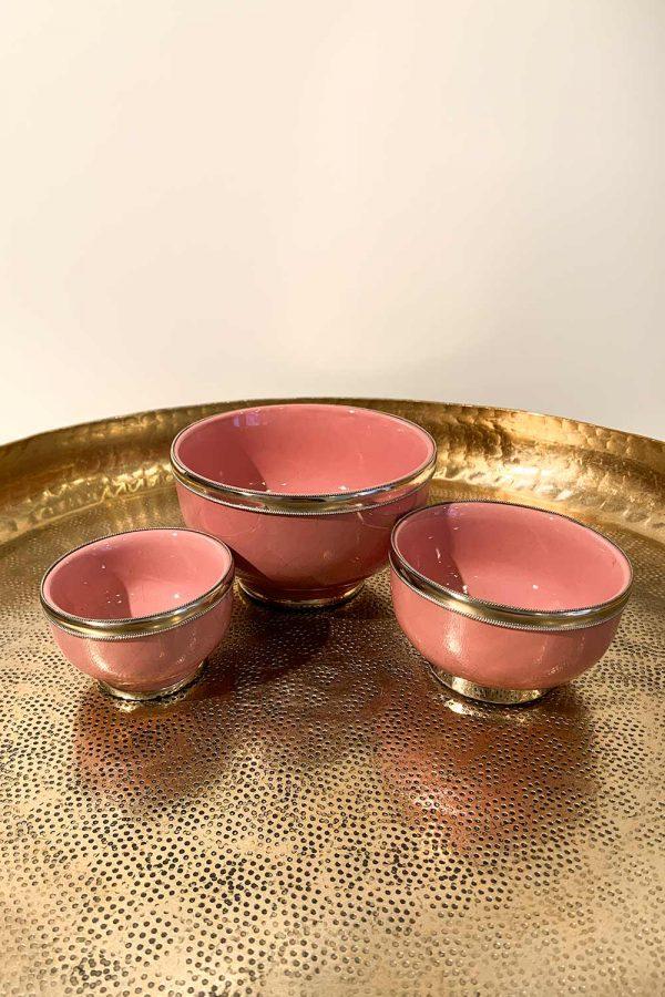 Orientalische Schale Azra in drei Größen in rosa